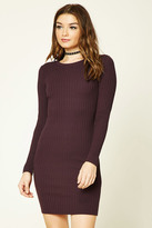 Forever 21 FOREVER 21+ Ribbed Cutout-Back Dress