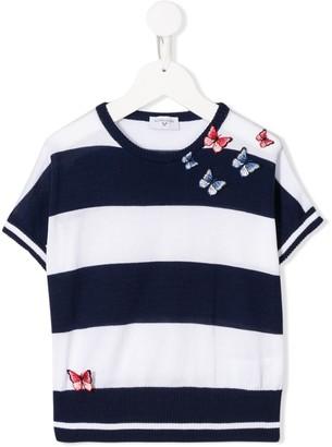 MonnaLisa knitted striped pattern T-shirt