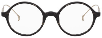 Issey Miyake Black Round 6 Glasses