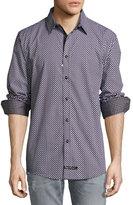 English Laundry Diamond-Print Sport Shirt, Black