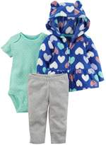 Carter's Baby Girl Heart Print Fleece Jacket