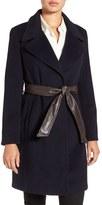 Ellen Tracy Women's Belted Wool Blend Wrap Coat