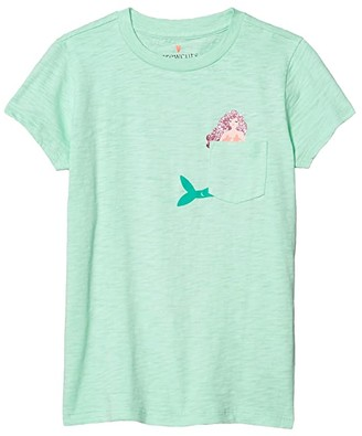 crewcuts by J.Crew Pocket Critter T-Shirt (Toddler/Little Kids/Big Kids) (Mermaid) Girl's Clothing