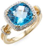 Effy Women's 14K Gold, Diamond & Topaz Dome Ring