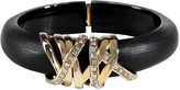 Alexis Bittar Black/Gold-Toned Modulor Ribbon Bracelet