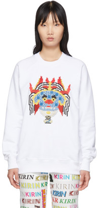 Kirin White Embroidered Haetae Sweatshirt