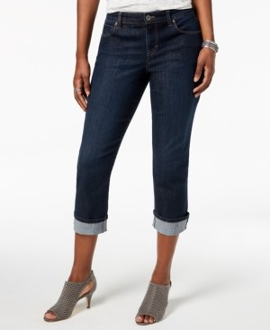 Style&Co. Style & Co Petite Curvy Cuffed Capri Jeans, Created for Macy's