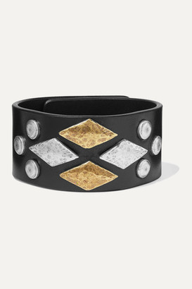 Isabel Marant Studded Leather Bracelet - Black