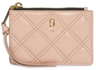 Marc Jacobs The Softshot Zip Quilted Leather Card Case