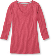 L.L. Bean West End Fitted Tee, Three-Quarter-Sleeve Scoopneck