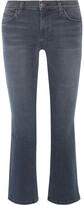Thumbnail for your product : Current/Elliott The Kick Cropped Mid-rise Flared Jeans