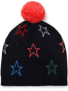 Parker Chinti & Pompom-embellished Intarsia Wool And Cashmere-blend Beanie