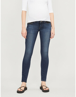 Paige Denim Women's Nottingham Blue Verdugo Maternity Skinny Mid-Rise Jeans, Size: 25