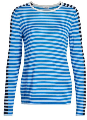 Akris Punto Tricolor Wool Pullover