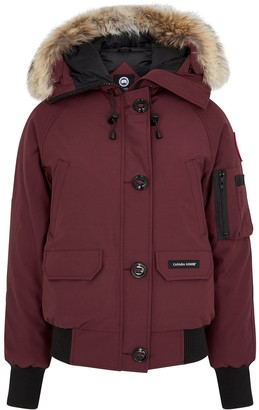 Canada Goose Chilliwack Dark Red Fur-trimmed Jacket