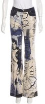 Just Cavalli Flared Graphic Print Jeans