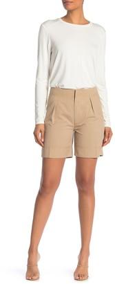 Brochu Walker Josiah Pleat Front Bermuda Shorts