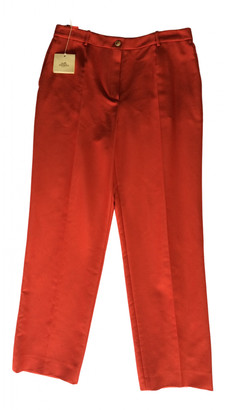 Hermes Red Cotton Trousers