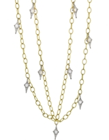 Cathy Waterman Double Tiny Lacy Chain Necklace