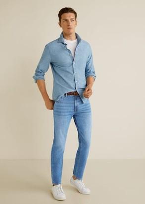 MANGO Tapered fit medium wash soft jeans