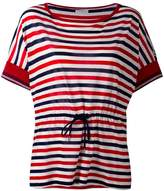 Moncler drawstring waist striped T-shirt