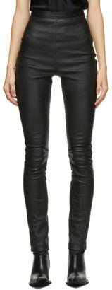 Haider Ackermann Black Leather Varukers Leggings