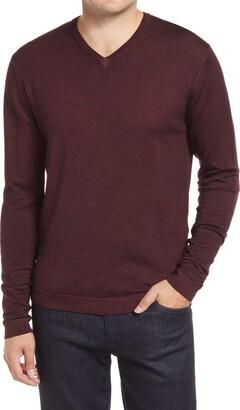 Robert Barakett Newberry Merino Wool V-Neck Sweater