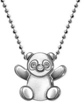 Alex Woo Little Cities by Panda Pendant Necklace in Sterling Silver