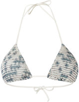 Cecilia Prado triangle bikini top - women - Acrylic/Lurex/Viscose - P