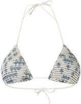 Cecilia Prado triangle bikini top - women - Viscose/Acrylic/Lurex - P