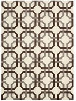 Waverly Artisanal Delight Groovy Grille Tobacco Area Rug by Nourison (5' x 7')
