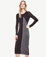 Ann Taylor Petite Colorblocked Midi Sweater Dress