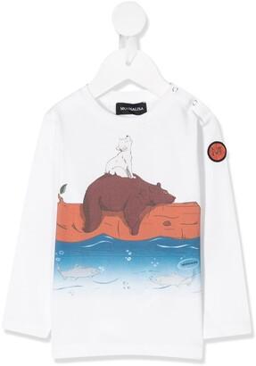 MonnaLisa long sleeve bear print T-shirt