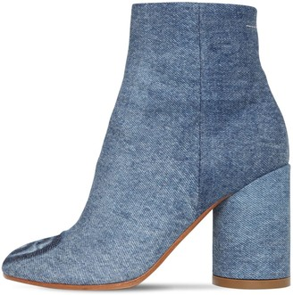 MM6 MAISON MARGIELA 90mm Denim Ankle Boots