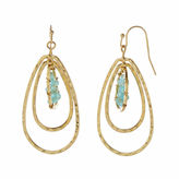 Natasha Accessories Natasha Blue 3-Row Drop Earrings