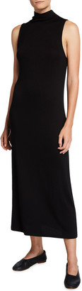 Vince Sleeveless Mock-Neck Long Dress