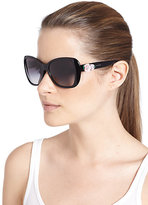 Dolce & Gabbana Oversized Flowered Square Sunglasses