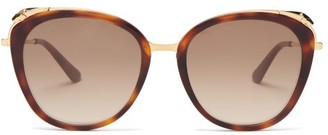 Cartier Core Cat-eye Acetate Sunglasses - Tortoiseshell