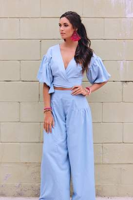 Lucy-Love Lucy Love Chambray Crop Set