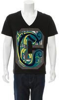 Just Cavalli Graphic V-Neck T-Shirt