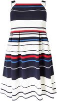 Adrianna Papell Striped Fit And Flare Dress