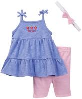 Rene Rofe Strawberry Dress, Capri, & Headband Set (Baby Girls)