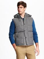 Old Navy Hooded Heathered Vest for Men