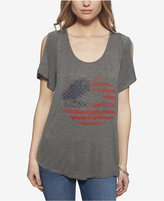 Jessica Simpson Cold-Shoulder Flag Graphic T-Shirt