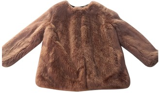 Pinko Pink Faux fur Coat for Women
