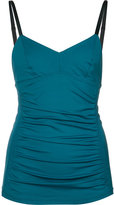 Malia Mills gathered detail swim top - women - Nylon/Spandex/Elastane - 32A