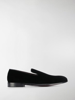 Dolce & Gabbana Classic Velvet Slip On Loafers
