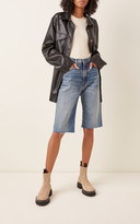 R 13 Axl Denim Knee-Length Shorts