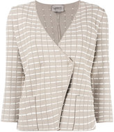 Armani Collezioni fitted wrap jacket - women - Polyester/Viscose - 44