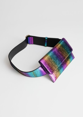 And other stories Rainbow Leather Belt Bag